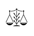 growing law black icon sign on isolated vector image vector image