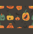 hand drawn abstract cartoon happy halloween vector image vector image