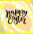 happy easter lettering for greeting card with vector image