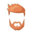 Hipster fashion man hair and beards mustache vector image vector image