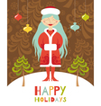 holiday lady vector image