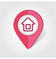 Home map pin icon vector image