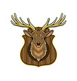 Hunting Trophy vector image vector image