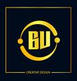initial letter bv logo template design vector image