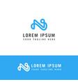 initials monogram n letter logo design creative vector image