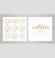 invitation template gold lines on a white vector image