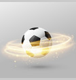 isolated football with shiny light ring effect vector image vector image