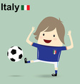 italy national football team businessman happy is vector image vector image