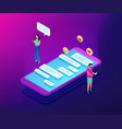 messaging application isometric 3d concept vector image