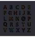 Neon alphabet with shadow vector image