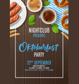 oktoberfest party poster invite vector image