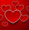 Paper red hearts vector image vector image