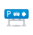 parking sign icon vector image vector image