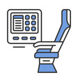passenger seat with multimedia screen color icon vector image vector image