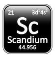 Periodic table element scandium icon