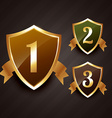 ranking label badge design in gold vector image vector image
