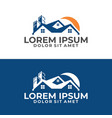 real estate and mortgage logo template with roof vector image