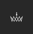 Royal crown monogram logo black and white mockup vector image