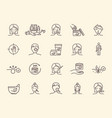 set dermatology related outline icons vector image