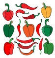 Set of pepper vector image vector image
