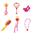 set princess world elements and attributes of vector image vector image