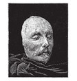 shakespeare death mask vintage vector image vector image