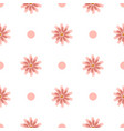 simple white seamless pattern with flowers and vector image vector image