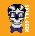 skull geek for graphic goods vector image