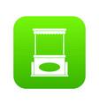 street kiosk icon digital green vector image vector image