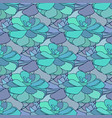 Succulents seamless pattern textile design in