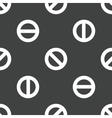 The No symbol pattern vector image vector image