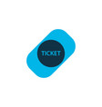 ticket icon colored symbol premium quality vector image