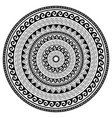 tribal geometric mandala design polynesian vector image vector image