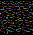 seamless pattern with handwritten words vector image