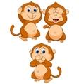 Three wise monkey cartoon vector image