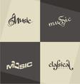 Music logo designs vector image