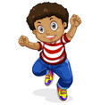 a cheerful boy character vector image