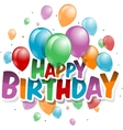 a Happy Birthday Card vector image vector image