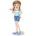 A tall schoolgirl vector image vector image