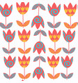 abstract floral seamless pattern it is located in vector image vector image