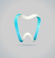 Abstract tooth symbol vector image vector image