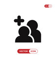 add friends icon vector image vector image