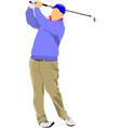 al 1005 golfer 01 vector image vector image