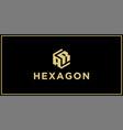 ar hexagon logo vector image vector image