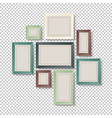 art frames on transparent vector image vector image