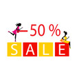 big sale concept with two silhouettes beautiful vector image vector image