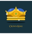 Blinking shiny king golden crown or crest vector image vector image