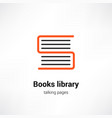 books library icon concept vector image