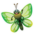 butterfly with green wings vector image vector image
