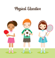Children With Sport instrument vector image vector image